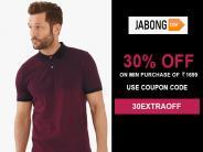 मॉनसून यात्रा के लिए करें ज़रूरी शॉपिंग! फैशनेबल परिधानों में पाइए 30% तक की छूट, सिर्फ़ जबोंग में।