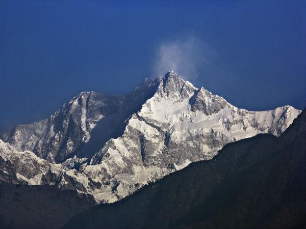 Kangchenjunga Mountain in Asia