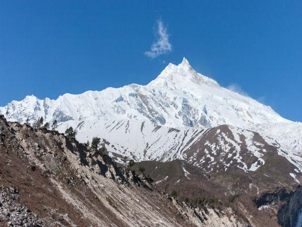 Manaslu Mountain in Nepal