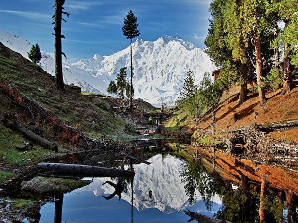 Nanga Parbat Mountain in Asia