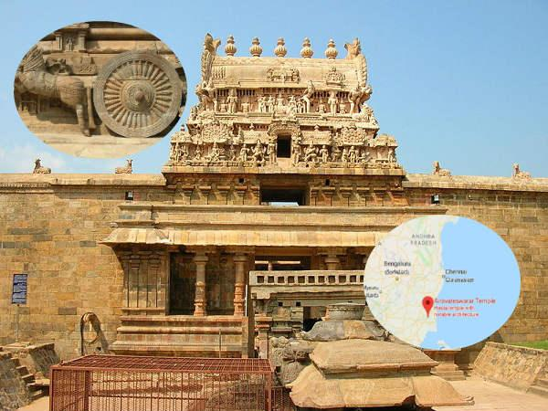 दक्षिण के चोल राजाओं द्वारा निर्मित भव्य मंदिरों में से एक एरावतेश्वर