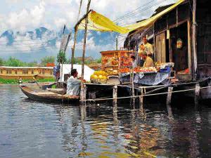 The Floating Market On Dal Lake Hindi