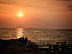 Sunset Of Kanyakumari Tamilnadu India