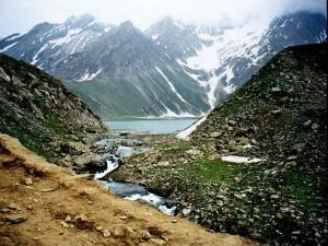 Sheshnag Lake In Kashmi Valley